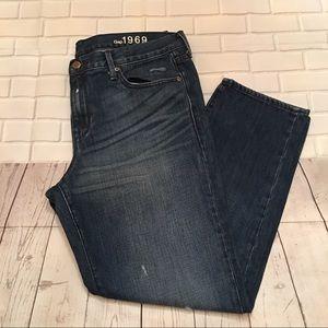 Gap Sexy Boyfriend Distressed Jeans Size 32/14R